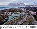 fjord, ocean, landscape 45423808