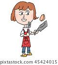 一個女人做飯 45424015