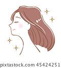 美麗的頭髮直的女人 45424251