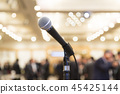 Microphone at indoor event venue 45425144