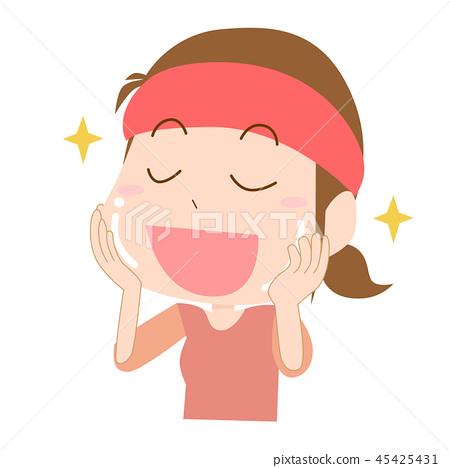 Woman skin trouble moisture moisturizing 45425431
