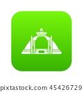 Polonnaruwa, ancient stupa icon digital green 45426729