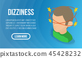 Dizziness concept banner, isometric style 45428232