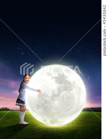 Full moon in the night 005 45430842