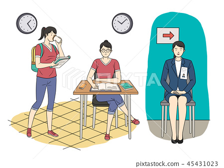Different human daily life, ordinary and healthy lifestyle vector illustration 010 45431023