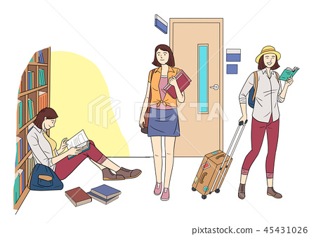 Different human daily life, ordinary and healthy lifestyle vector illustration 008 45431026