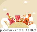 Korean ornament for blank template. banner, greeting card design vector illustration 022 45431074