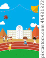 Illustration of an Autumn Sports Meet 45431372