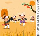 Chuseok Fairy Tales Illustration 45431399
