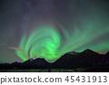 極光在挪威特羅姆瑟 45431913