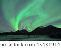 極光在挪威特羅姆瑟 45431914