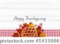 Happy Thanksgiving day with traditional holiday di 45433006