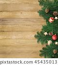 背景木五谷圣诞节装饰品 45435013