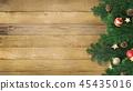 背景木五谷圣诞节装饰品 45435016