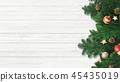 背景白色牆壁聖誕節裝飾品 45435019