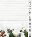 背景白色牆壁聖誕節裝飾品 45435027