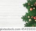 背景白色牆壁聖誕節裝飾品 45435033
