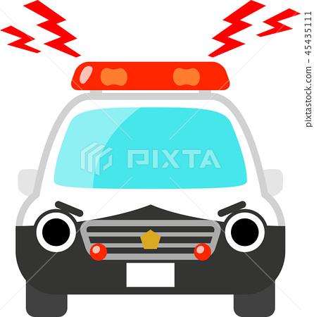 警車的性格聽起來像是警報器 45435111
