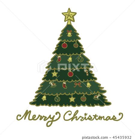 크리스마스 트리 일러스트 45435932