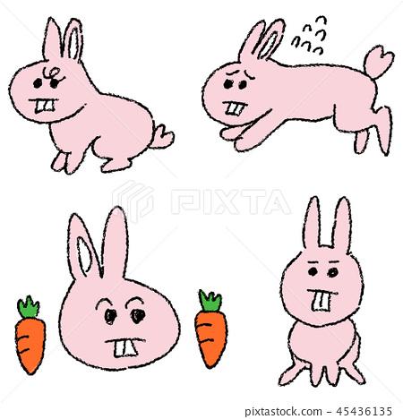 Yuruoto兔子角色 45436135