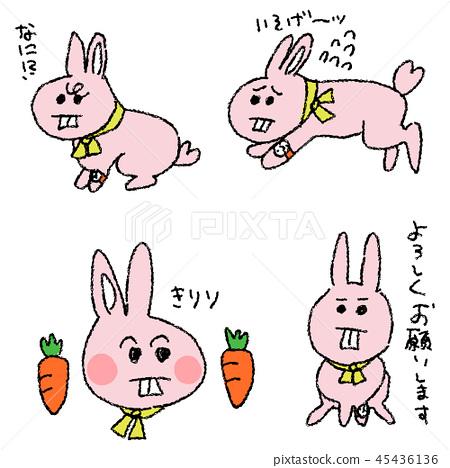 Yuruoto兔子角色 45436136