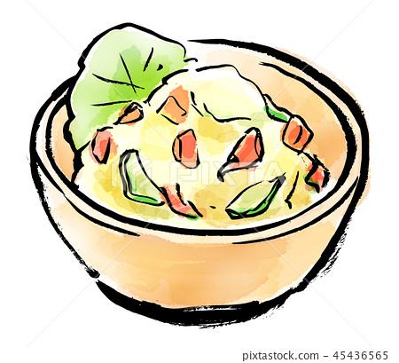 붓 그리기 감자 샐러드 45436565