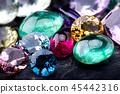 Gemstones collection jewelry set. 45442316