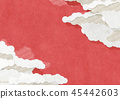 Cloud Red Japanese Paper Texture Japanese Modern 45442603
