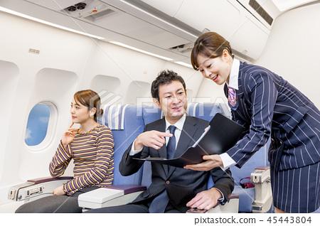 비행기 기내 여행 카탈로그 쇼핑 45443804