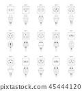 icon, vector, plug 45444120