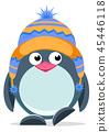 Cute hand drawn penguin 3 45446118