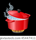 saucepan pan vector 45447411