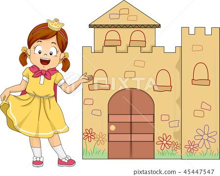 Kid Girl Play Princess Welcome Mini Castle 45447547