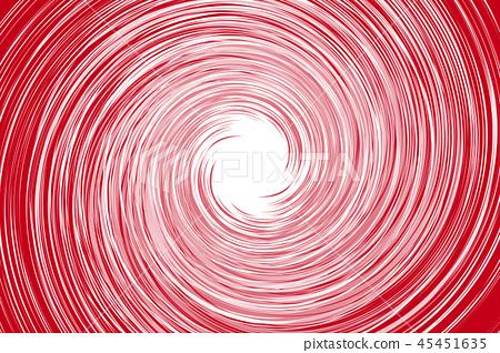 Background material, manga expression, effect line, spiral pattern, spiral, spiral, rotation, typhoon, hurricane, spiral, tornado, 45451635