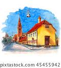 Nyboder area in Copenhagen, Denmark 45455942