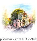 Pink house, Montmartre, Paris, France 45455949
