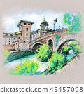 Tiber island in Rome, Italy 45457098