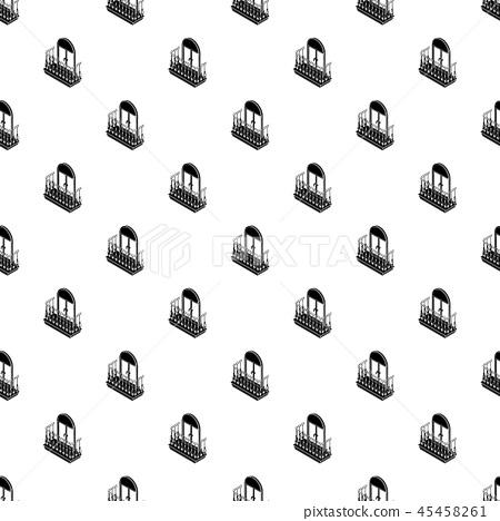 Metal balcony pattern vector seamless 45458261