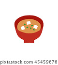 miso soup, white background, isolated 45459676