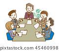 業務會議會議手繪風格 45460998