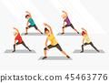 Kids fitness vector 45463776