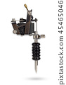 Tattoo Machines on isolate with clipping path. 45465046