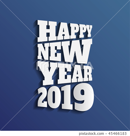 Happy new 2019 year. Greetings card.  45466183