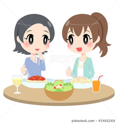一个女人享受一顿饭 45468269