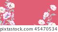 우아한 수채화 분홍색 장미와 작약 꽃 45470534
