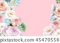 우아한 수채화 분홍색 장미와 작약 꽃 45470556