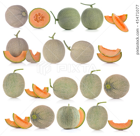 Ripe Cantaloupe Melon On White Background Stock Photo 45471077 Pixta How to ripen a cantaloupe. https www pixtastock com photo 45471077