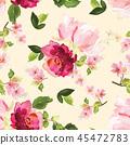pattern, floral, seamless 45472783