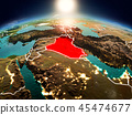 Iraq in sunrise from orbit 45474677