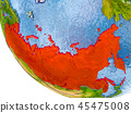 Russia on globe 45475008